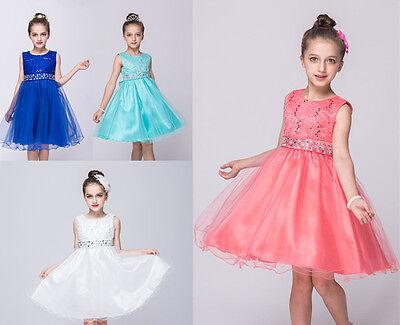 Gorgeous Flower Girl Dresses (Gorgeous Wedding Flower Girl's Sequined Shining  Crystal Waist Evening Dress)