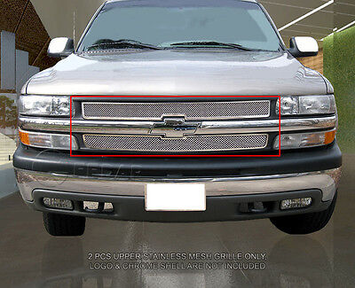 Stainless Steel Mesh Grille Grill For Chevy Silverado/Suburban/Tahoe 1999-2006