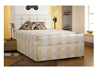 """Brand New -- Same Day Free Delivery -- Double Divan 9"""" Deep Quilt Bed"""