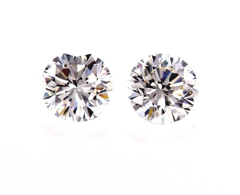 1.5 CT Diamond Studs Earrings 14K White Gold GIA Certified Natural Round Cut 3