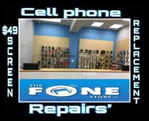 $49 CELLPHONE REPAIR iPhone & SAMSUNG SCREEN/LCD REPAIR ONLY$49!! CALL 416-792-5511