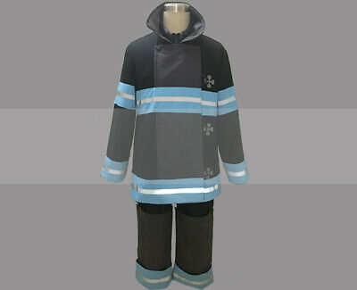 Customize Fire Force Shinra Kusakabe Bunker Gear Cosplay Costume Outfit for Sale