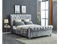 ❗❗ Super King Beds on Sale ❗❗ Brand New Sleigh Bed on Silver Crushed Velvet for £250 Only