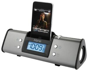 iHome iphone/ipod docking unit with clock alarm stereo player