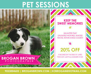 PET SESSIONS [20% OFF] - IF BOOKED BY THE END OF JUNE