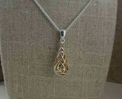 Sterling Silver Celtic Trinity Knot Pendant  KEITH JACK Jewelry 22K Gilding