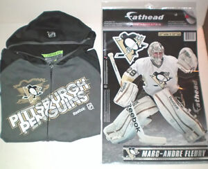 Pittsburgh Penguins Hoodie and Marc-Andre Fleury Fathead Decal London Ontario image 1