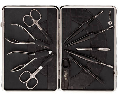 Niegeloh Leather Manicure Set Kroko XL (Solingen, Germany)