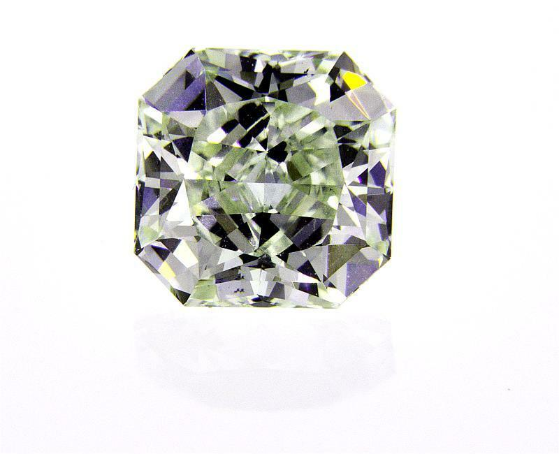 Rare 1.74 CT Fancy Green Color Natural Loose Diamond GIA Certified Radiant Cut