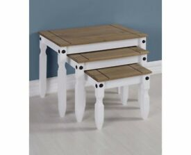New White Cream or Grey Corona Nest of tables £69 white only available now