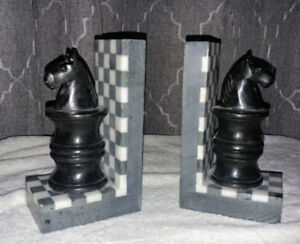 CHESS SOAP STONE BOOKENDS
