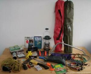 Camping / Outdoor Gear - Tent, Rope, Knives, Chairs