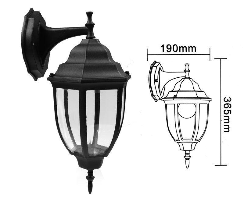 Lanterna da giardino retrò antica lampada da parete applique esterno a muro E27