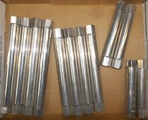 "12 - 3/4""  X 16 THREADED ALUMINUM LINK TUBES, 1.14""  O/D"