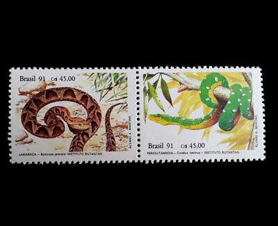 Snakes Brazil 1991 蛇 Shé Hebi bothrops jararaca corallus caninus Periquitambóia comprar usado  Brazil