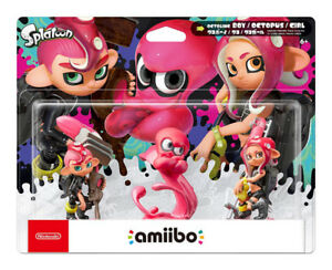 Nintendo Amiibo - Splatoon Series - Octoling amiibo 3-pack