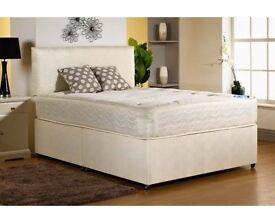 40% OFF!! 4FT SMALL DOUBLE 4FT 6 DOUBLE OR 5FT KINGSIZE DIVAN BED WITH RANGE OF MATTRESSES AVAILBLE