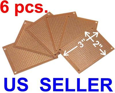 6 Pcs 2x3 5x7cm Prototyping Pcb Printed Circuit Board Prototype Breadboard