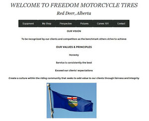 Freedom Motorcycle Tire Changing Service Red Deer, AB