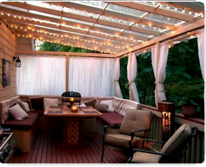 Affordable carport pergola patio cover canopy sunroom deck porch