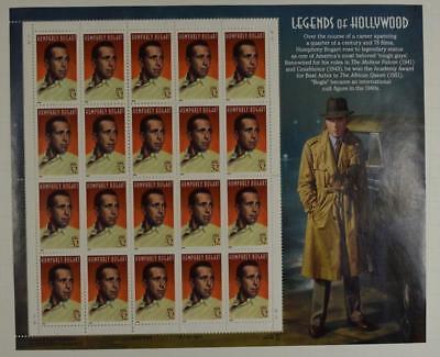 US SCOTT 3152 PANE OF 20 HUMPHREY BOGART LEGENDS OF HOLLYWOOD 32 CENTS FACE MNH