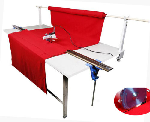 """110V High Speed Fabric End Cutter w/75"""" Rack & Digital Counter Delay Function"""