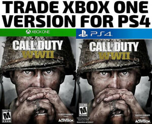 TRADE XBOX ONE FOR PS4 Call Of Duty WW2 (or others)