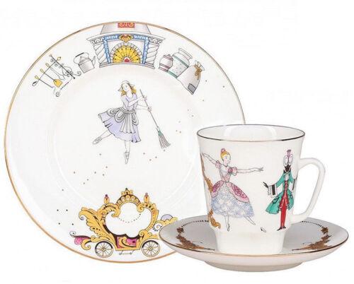 Cinderella Ballet Teacup & Saucer by Imperial Porcelain Lomonosov Russian LFZ