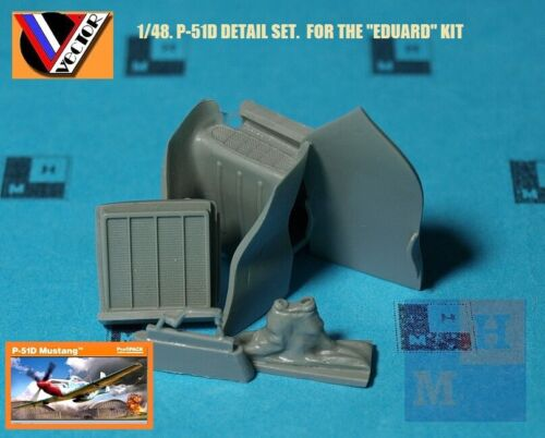 """1/48. N.A. P-51D upgrade resin set, by """"Vector"""" VDS 48-124"""