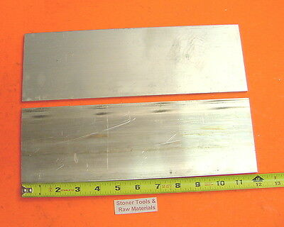 2 Pieces 18 X 4 Aluminum 6061 Flat Bar 12 Long .125 Plate New Mill Stock