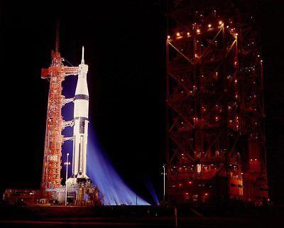 Collectibles Apollo 14 Saturn V Rocket Nighttime 11x14 Silver Halide Photo Print Historical Memorabilia