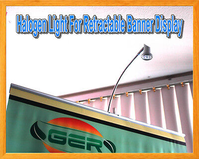 Halogen Display Light Banner Stand Lamp Retractable Roll Up Trade Show Booth New