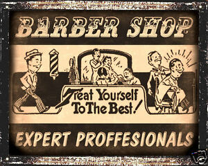 BARBER-SHOP-hair-salon-VINTAGE-SIGN-funny-wall-decor-display-RETRO-PLAQUE-art