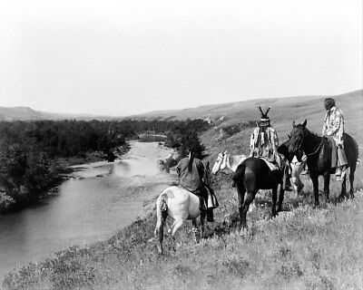 EDWARD S. CURTIS PIEGAN INDIANS ON HORSES 11x14 SILVER HALIDE PHOTO PRINT