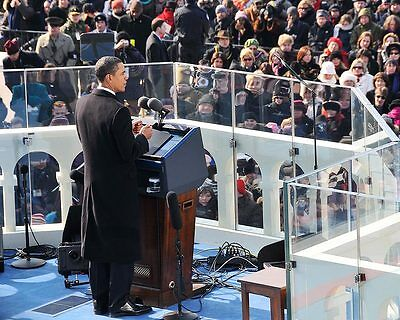 President Barack Obama Inaugural Address 2009 8x10 Silver Halide Photo Print