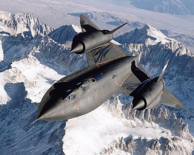 SR-71 BLACKBIRD IN FLIGHT 8x10 SILVER HALIDE PHOTO PRINT