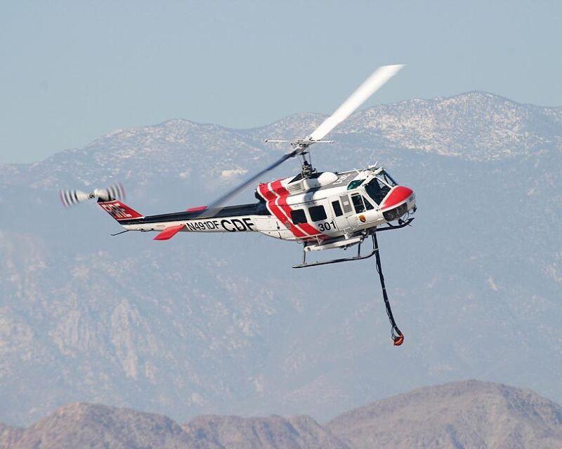UH-1 HUEY HEMET-RYAN FIREFIGHTER HELICOPTER 11x14 SILVER HALIDE PHOTO PRINT
