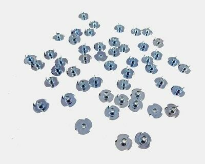 50 Pack 8-32 T-nuts 14 Barrel Zinc Plate 732 Hole 276621