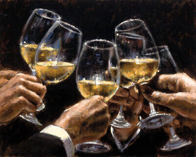 For a Better Life Cheers oil painting Giclee Art Printed on canvas