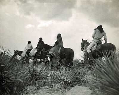 APACHES ON HORSEBACK BEFORE THE STORM 11x14 SILVER HALIDE PHOTO PRINT