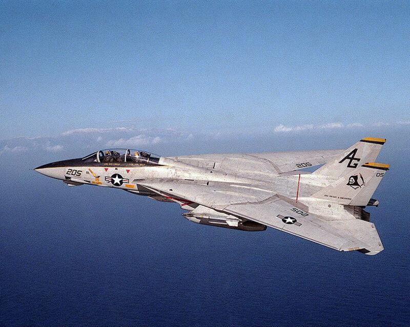 F-14A TOMCAT IN FLIGHT F-14 8x10 SILVER HALIDE PHOTO PRINT