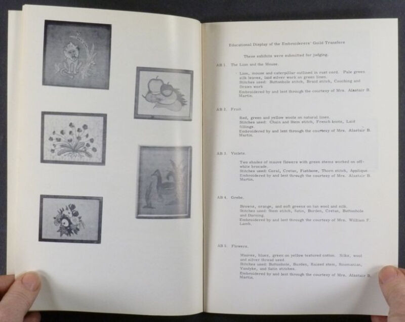 Handmade Emboidery - American Embroiderers Guild 2nd Exhibition - 1964 Catalog