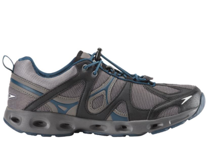 Speedo Men's Hydro Comfort 4.0 Water Shoe, Grey/Blue, Size 8