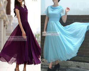 Elegant-Short-Sleeve-Chiffon-Dress-Long-Dress-XS-3XL-GF0273