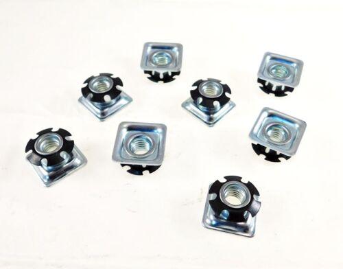 "8 Pack Threaded Star Type 1""(OD) Square Tubing Insert 3/8-16 Threads  S71-326"