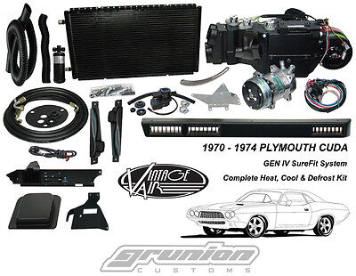 Plymouth CUDA w/o AC 1970 - 1974 Air Conditioning Heat Defrost Vintage Air Kit