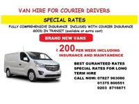 VAN HIRE FOR SELF DRIVER HIRE OR COURIER USE. CALLING ALL COURIER DRIVERS BRAND NEW VANS SWB LWB