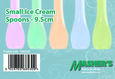 Small Plastic Spoons (Mashers Small Plastic Ice Cream Tasting Spoons – Assorted Colours – Pack of)