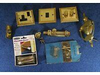 A selection of car bootable goods including vases, wine cooler pots, sockets, frames, woode decor.