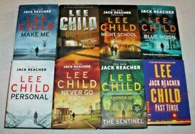 THE JACK REACHER SERIES * LEE CHILD * SET OF 8 THRILLER HARDBACK BOOKS